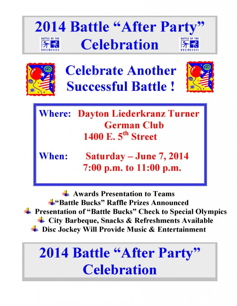 Battle After Party Sign