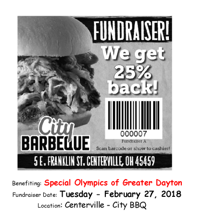 City Barbeque Flyer - Tuesday Feb 27th