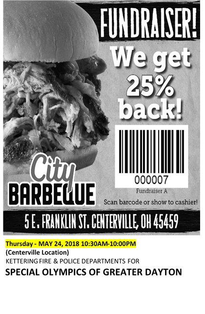 City Barbeque Flyer - Thursday May 24th
